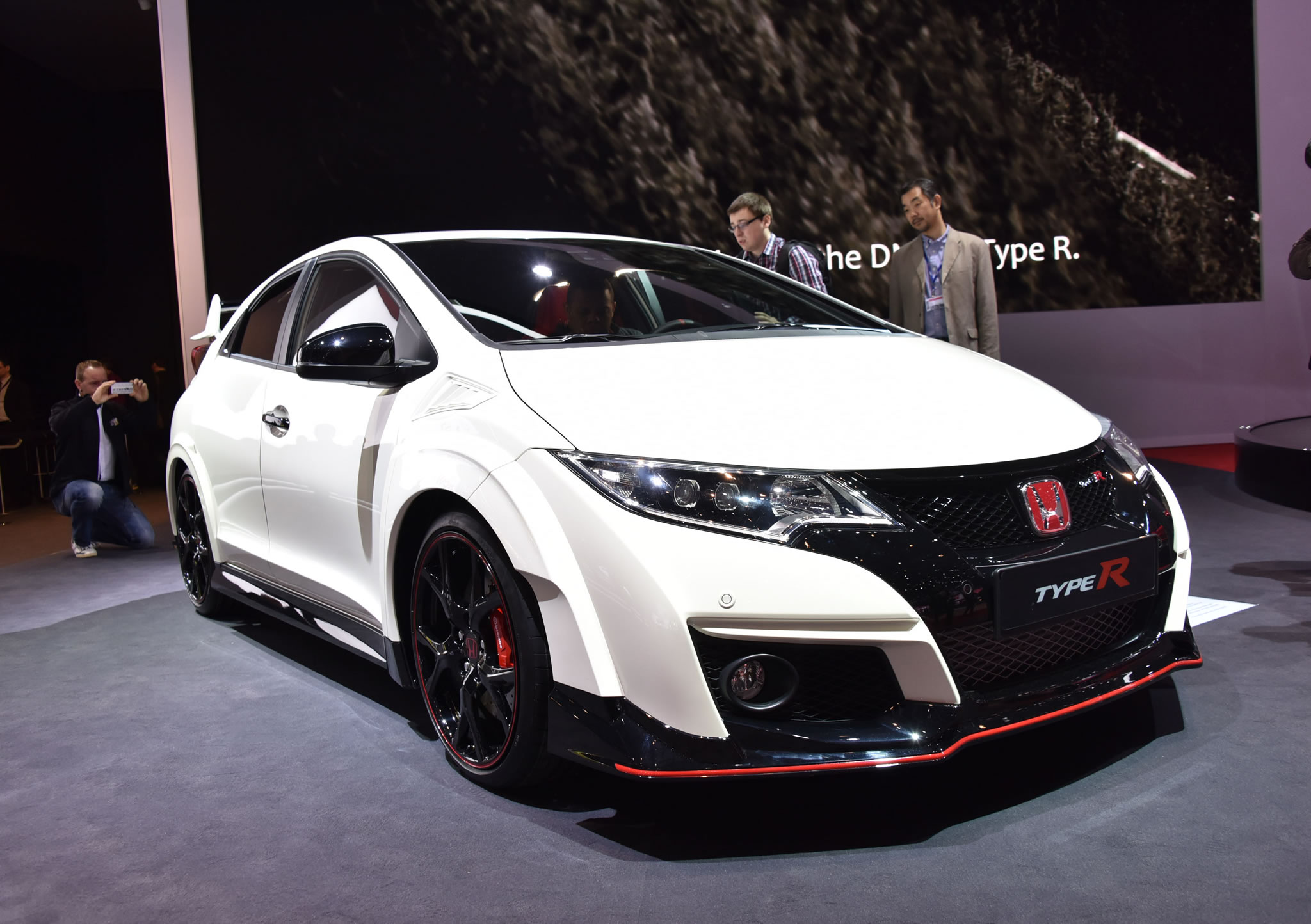 2015 honda civic type r front photo championship white. Black Bedroom Furniture Sets. Home Design Ideas