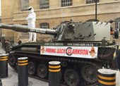 Clarkson Suporters Deliver One Million Signatures to BBC with Tank [w/ video]