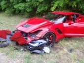 Kid Crashes a Brand New Chevrolet Corvette Z06 [w/ video]
