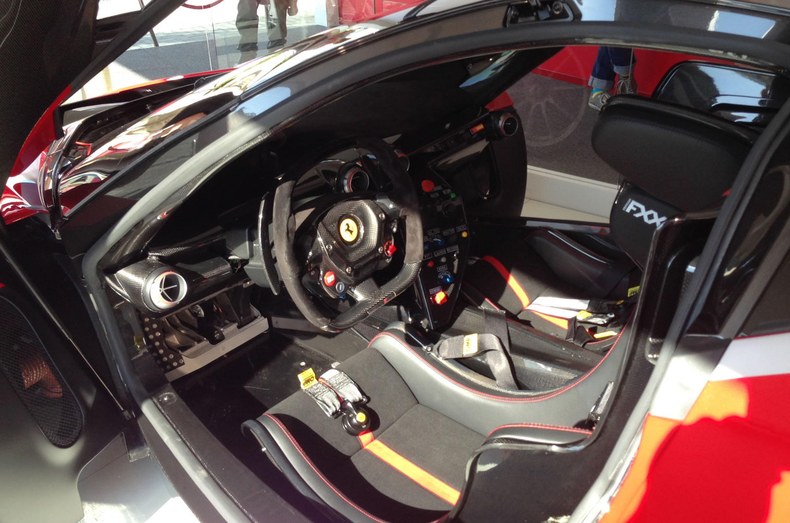 Ferrari FXX K At World Finals In Abu Dhabi Interior