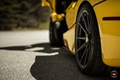 Yellow Ferrari LaFerrari Matches Black Roof With Satin Black Wheels