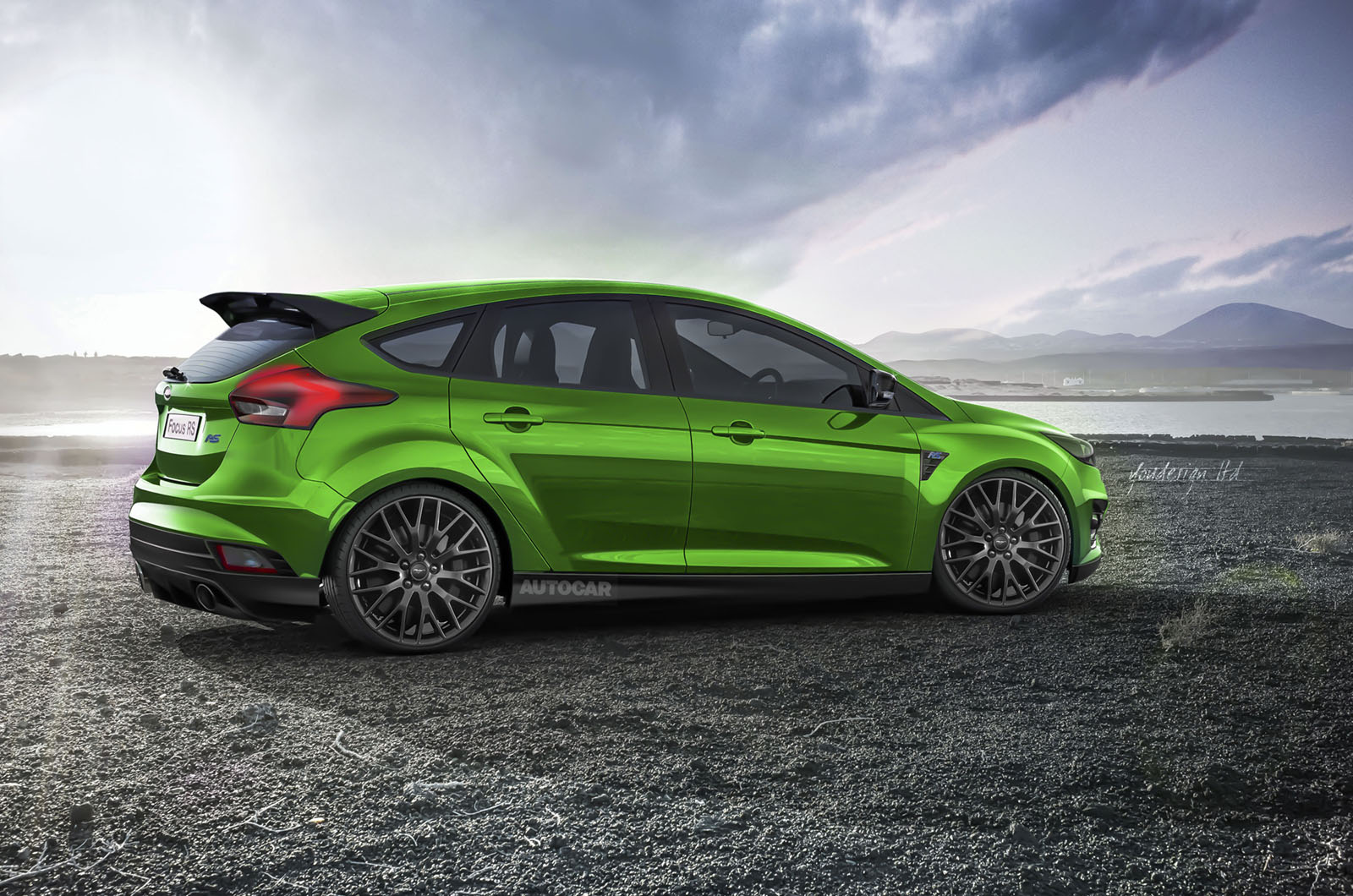 Rendering 2017 Ford Focus Rs Rear Photo Size 1600 X