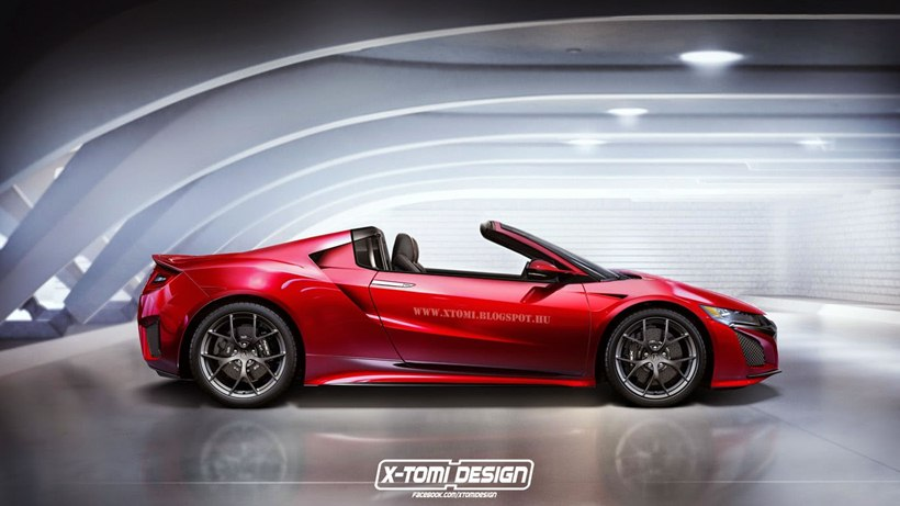 Ford Gt Spider And Acura Nsx Targa Side Photo 2016