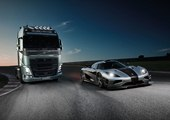 Koenigsegg One:1 Races a Volvo FH 8-Ton Truck [w/ video]