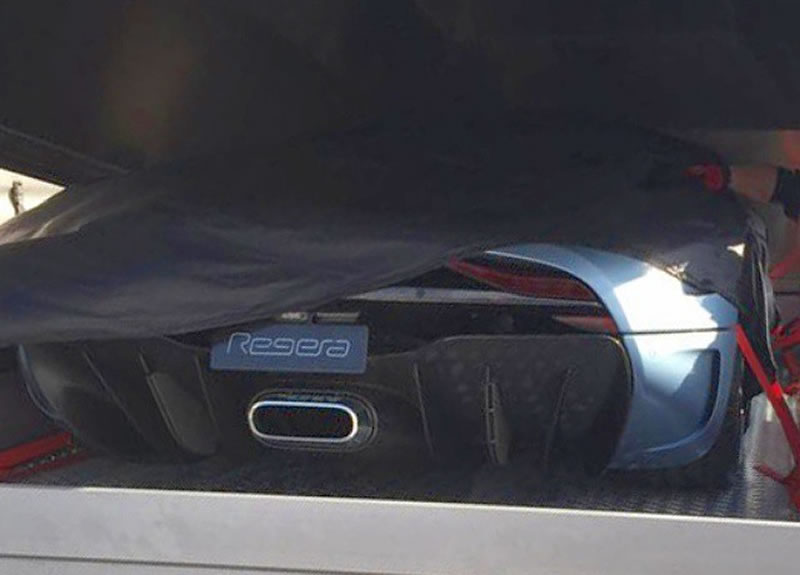 2016 Koenigsegg Regera Detail Photo Diffuser Taillight