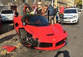 Ferrari LaFerrari Crashes in Budapest, Hungary