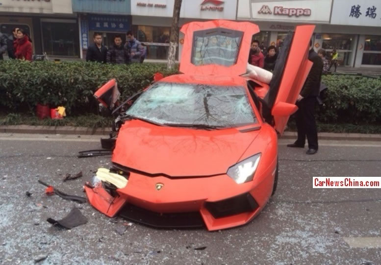lamborghini aventador crash in china front photo arancio argos color size 777 x 541 nr 5. Black Bedroom Furniture Sets. Home Design Ideas