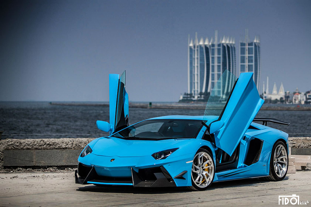Lamborghini Aventador Lp 700 4 By Dmc In Azure Blue Color Front