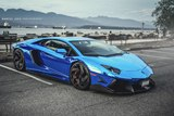 Photoshoot: Chrome Blue Lamborghini Aventador LP 766-4