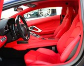 interior, red leather, seats