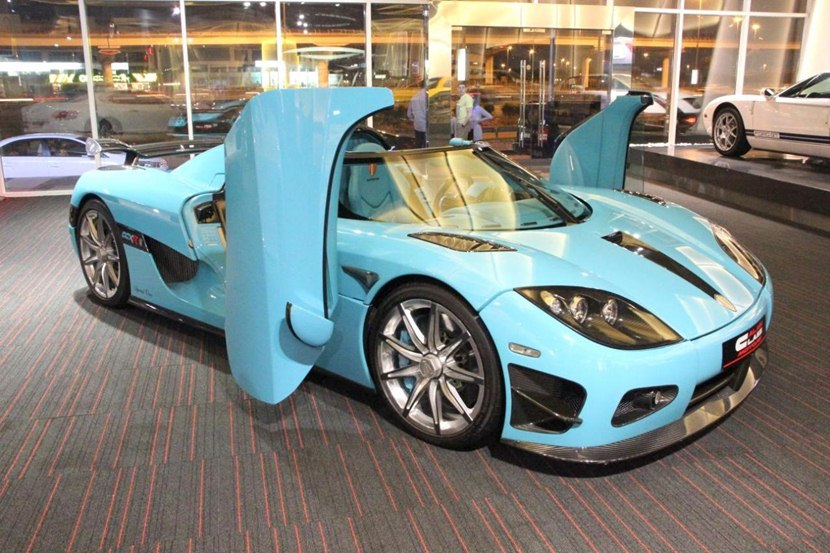 2010 Koenigsegg Ccxr In Light Blue Color Front Photo