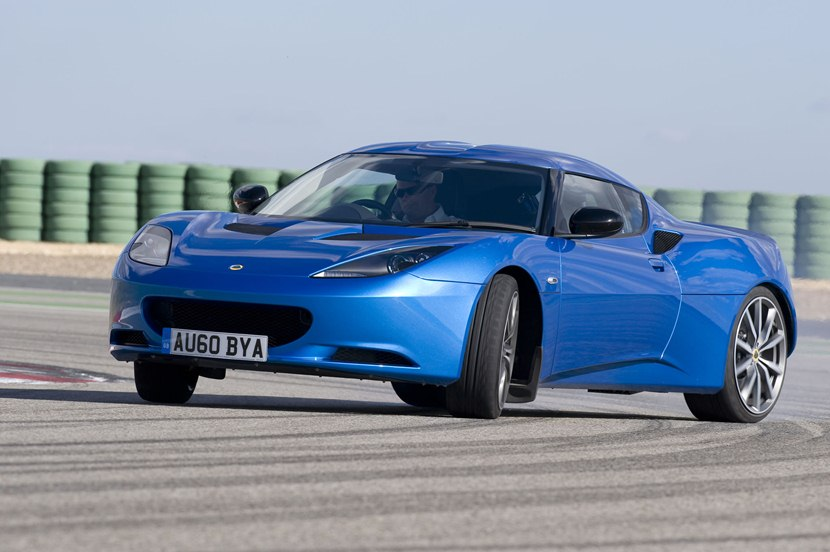 2014 lotus evora s front photo laser blue color drift. Black Bedroom Furniture Sets. Home Design Ideas