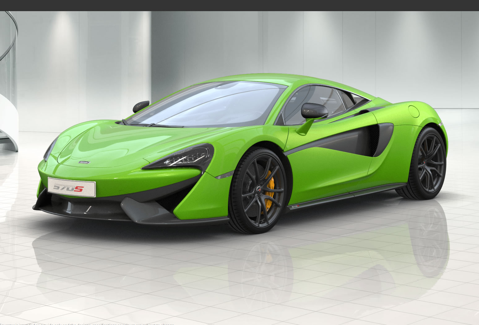 2015 Mclaren 570s Front Photo Mantis Green Exterior
