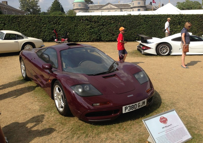 Rowan Atkinson S 1997 Mclaren F1 Front Photo Purple