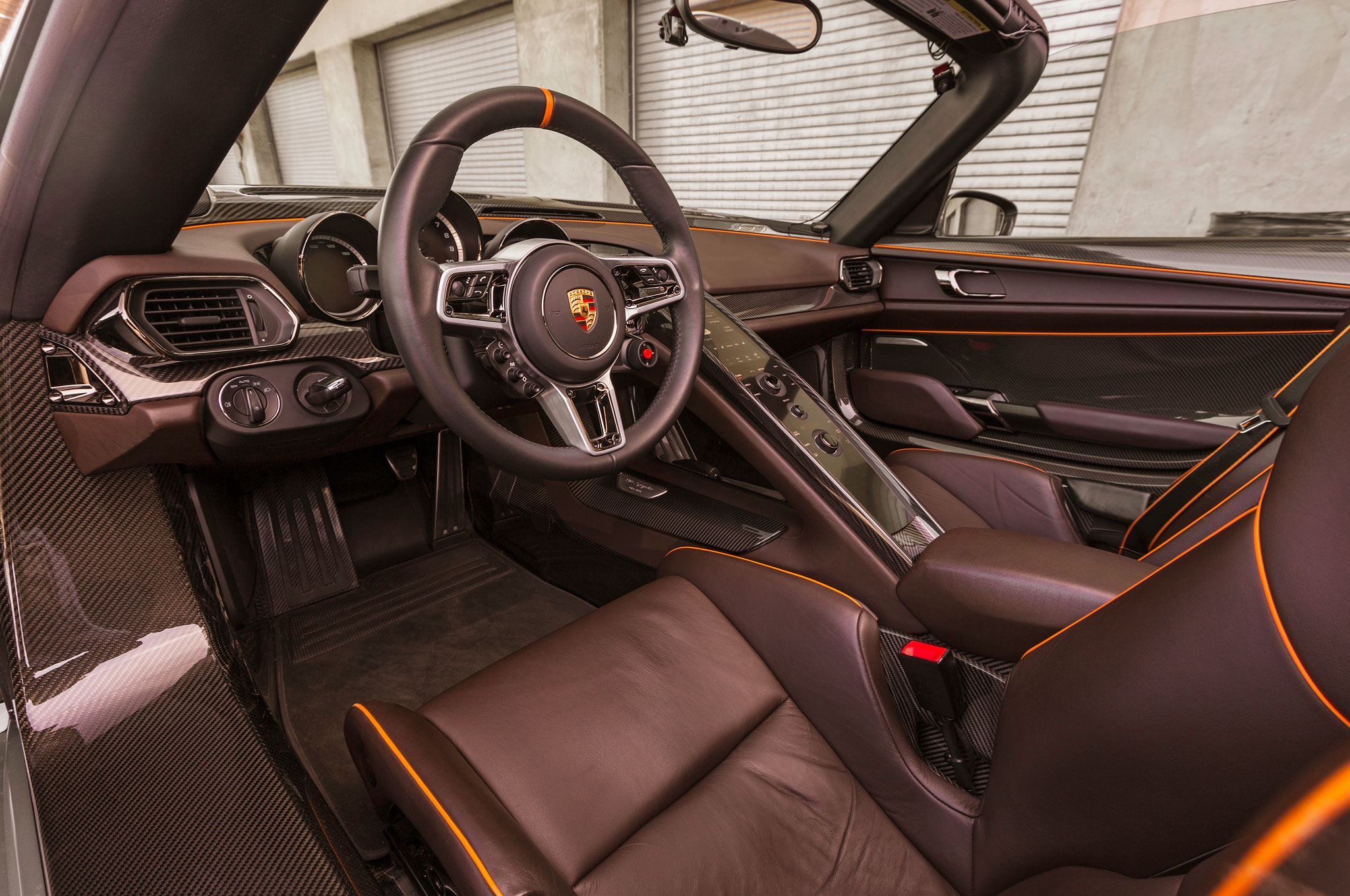 larger view create wallpaper interior seat porsche 918 spyder