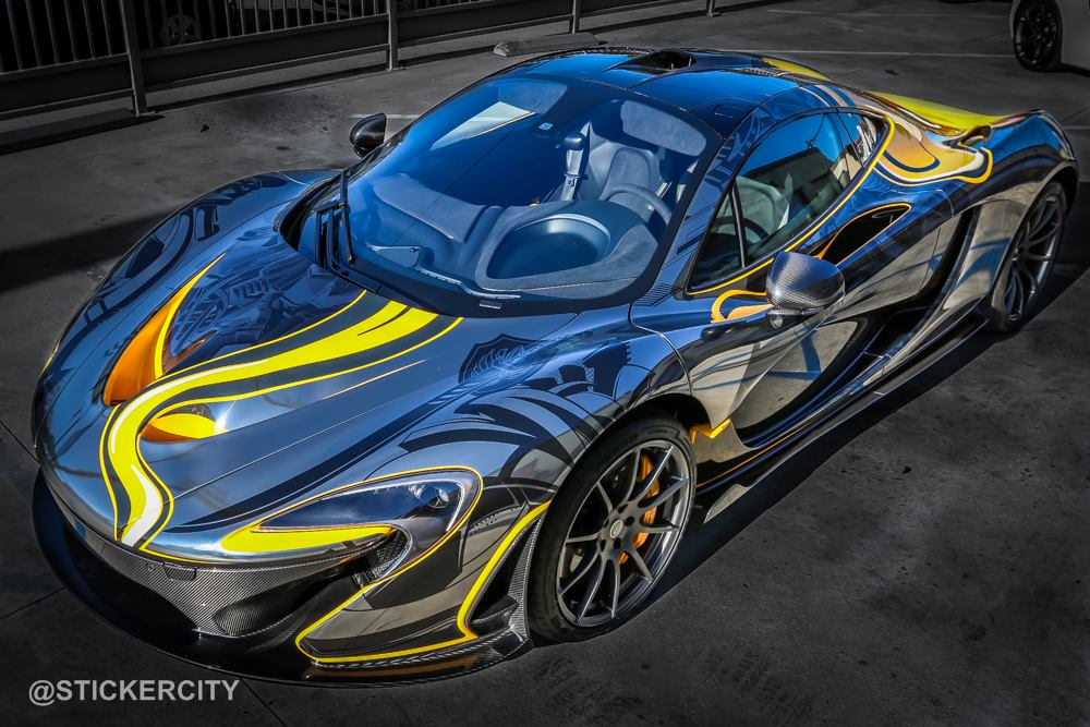 2015 Mclaren P1 Tatoo Edition By Sticker City Front