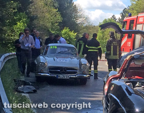 Mclaren P1 For Sale >> Mercedes-Benz 300SL Gullwing Crash at 2014 Mille Miglia - front photo, size 550 x 429, nr. 6/8 ...