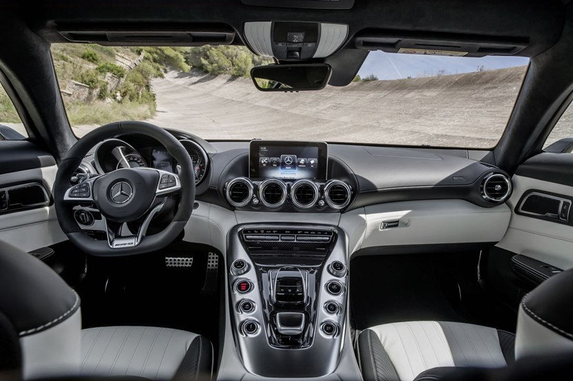 Interior, Black And White Combination. 2016 Mercedes AMG GT ...