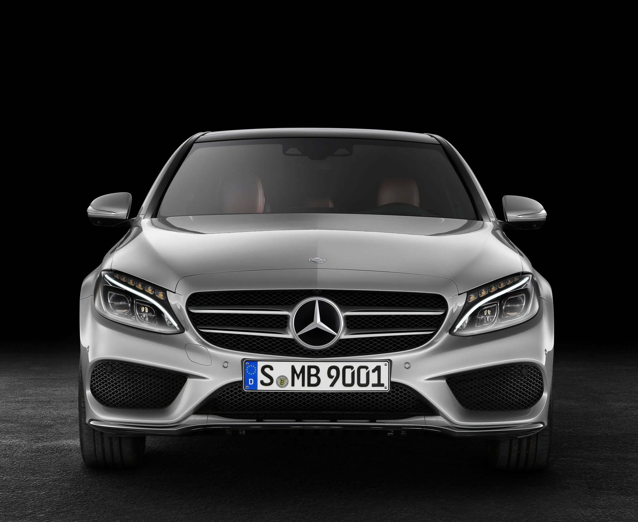 2015 mercedes benz c class front photo iridium silver for Mercedes benz c class colours