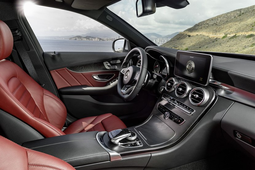 Interior, Driveru0027s Environment, Red Leather. 2015 Mercedes Benz C Class ...