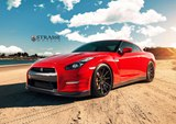 Photoshoot: Vibrant Red Nissan GT-R on Strasse Wheels