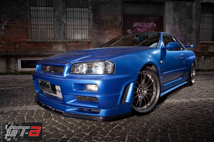Paul Walker S Nissan Skyline Gt R Front Photo Blue