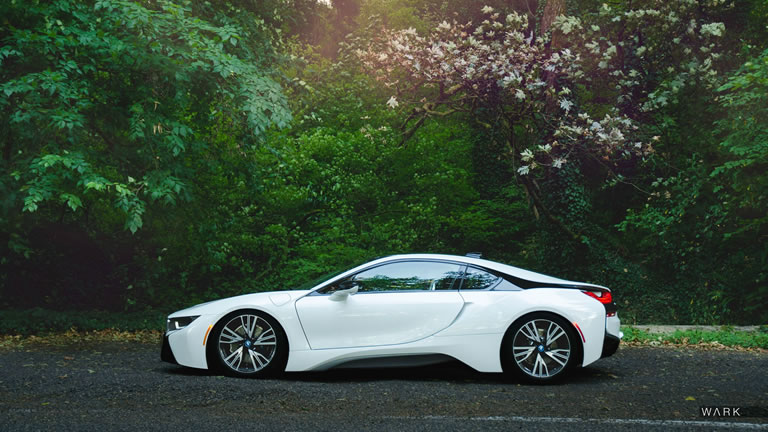 2015 Bmw I8 In The Forest Side View White Color Rssportscars Com