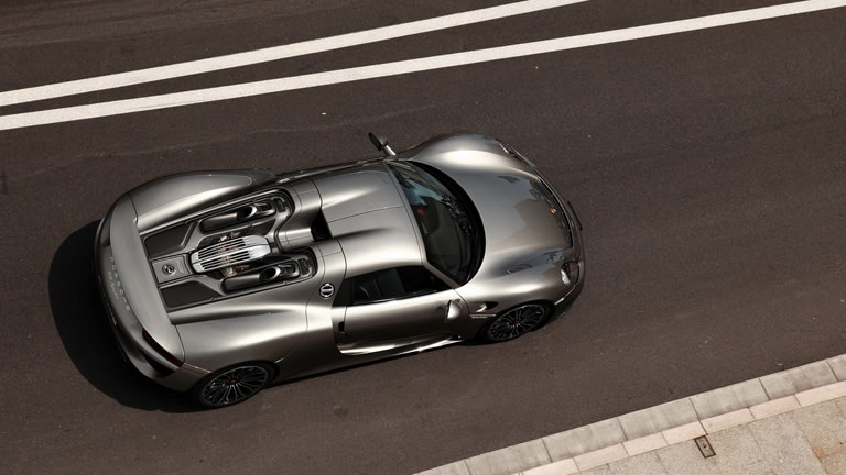 Spyder From Above 2015 Porsche 918
