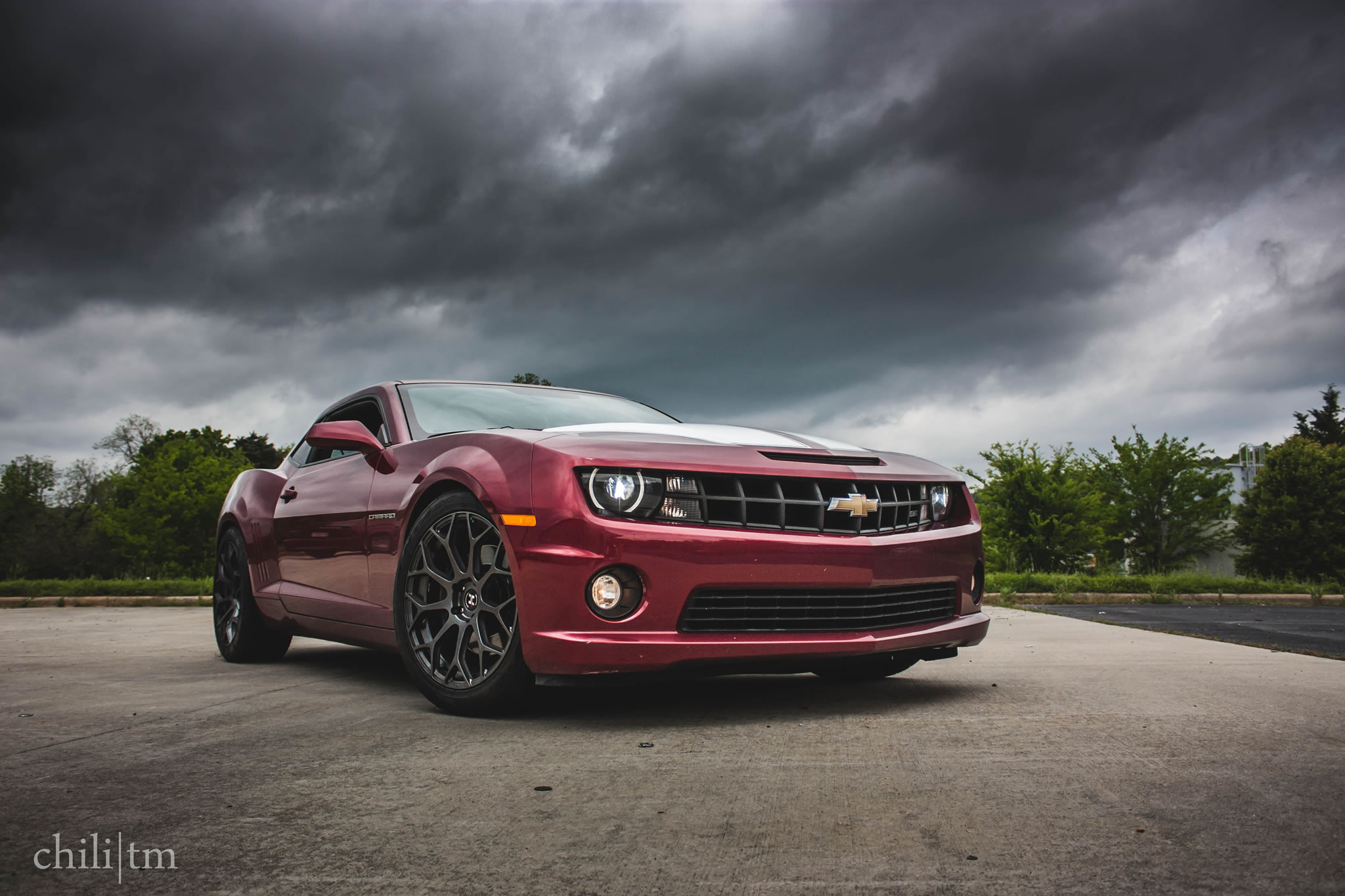 Chevrolet Camaro SS: Bringing the Storm - front view, wine ...