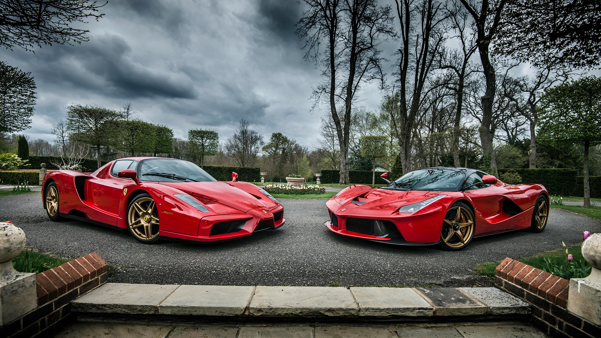 Evolution Ferrari Enzo And Laferrari Roso Corsa Color