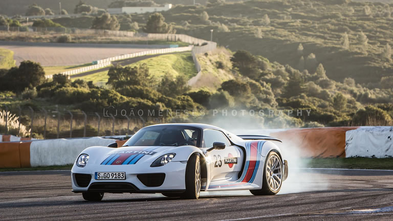 porsche 918 spyder weissach at estoril autodromo do estoril martini racing. Black Bedroom Furniture Sets. Home Design Ideas