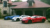 Red, White and Blue Chevrolet Corvette Z06