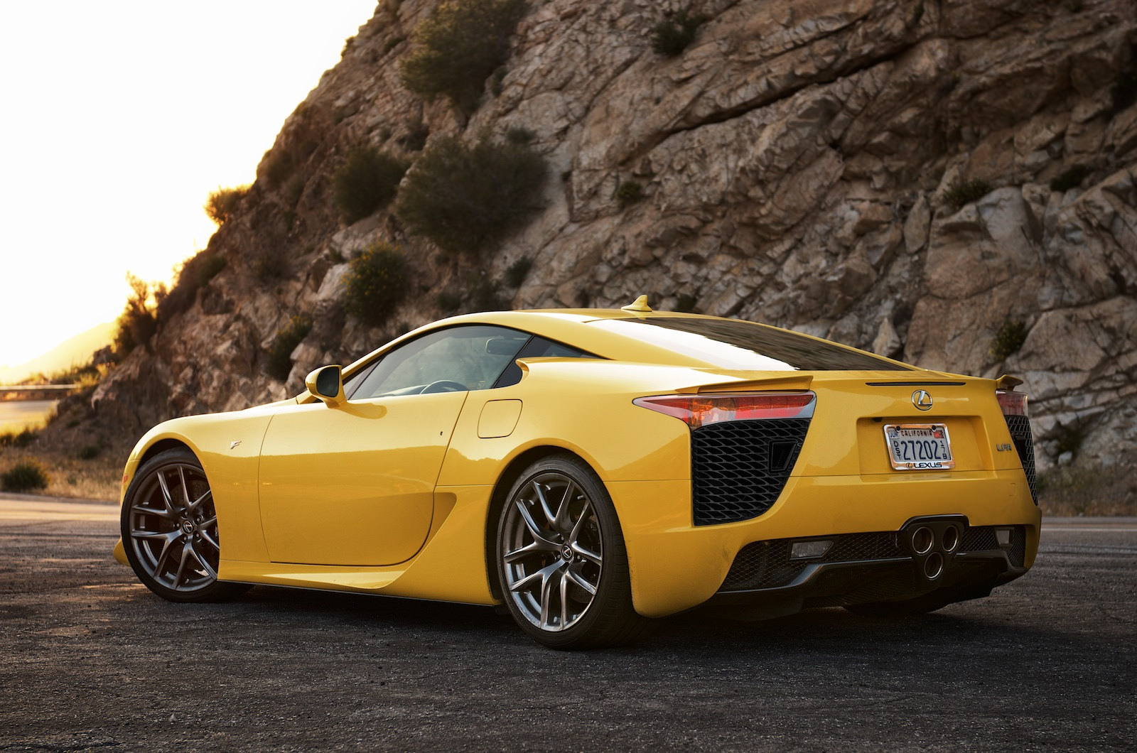 Custom Size · Yellow Lexus LFA