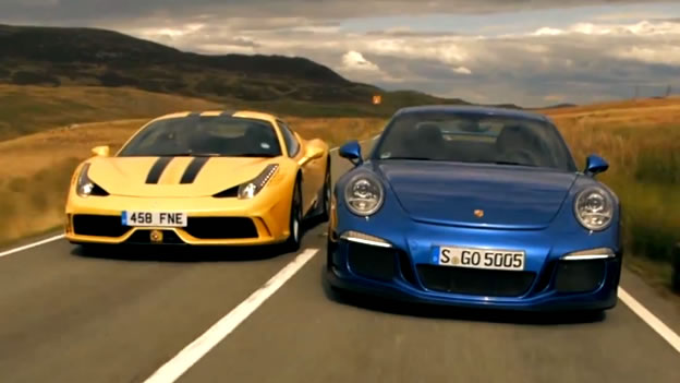 video close match ferrari 458 speciale vs porsche 911 gt3. Black Bedroom Furniture Sets. Home Design Ideas