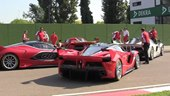 FXX K, What a Sound: Four Ferrari FXX K Cars at the Imola Race Track