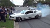 Ford Shelby GT500 Crashes Into Crowd