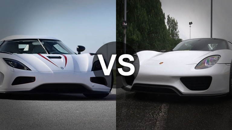 video koenigsegg agera r vs porsche 918 spyder. Black Bedroom Furniture Sets. Home Design Ideas