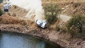 Rally Car Crashes into a Lake (Includes On-Board Video)