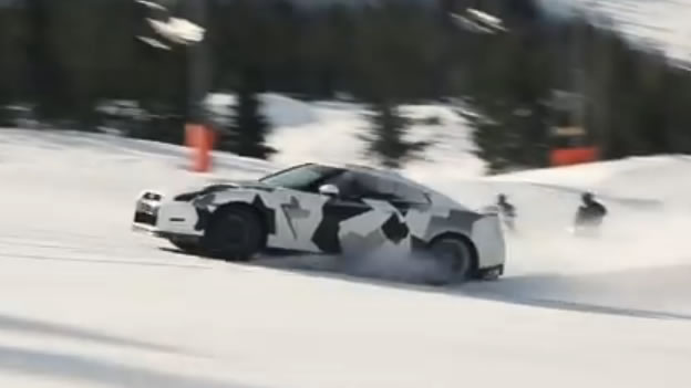Video Nissan Gt R Going Up The Ski Slope Rssportscars Com