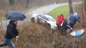 Peugeot RCZ R Rally Car Nearly Crashes Into Spectators
