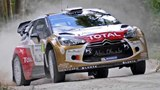 Sebastien Loeb Flat Out at Goodwood in His Citroen DS3 Rally Car