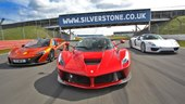 Paul Bailey's P1, LaFerrari and 918 Spyder at Silverstone