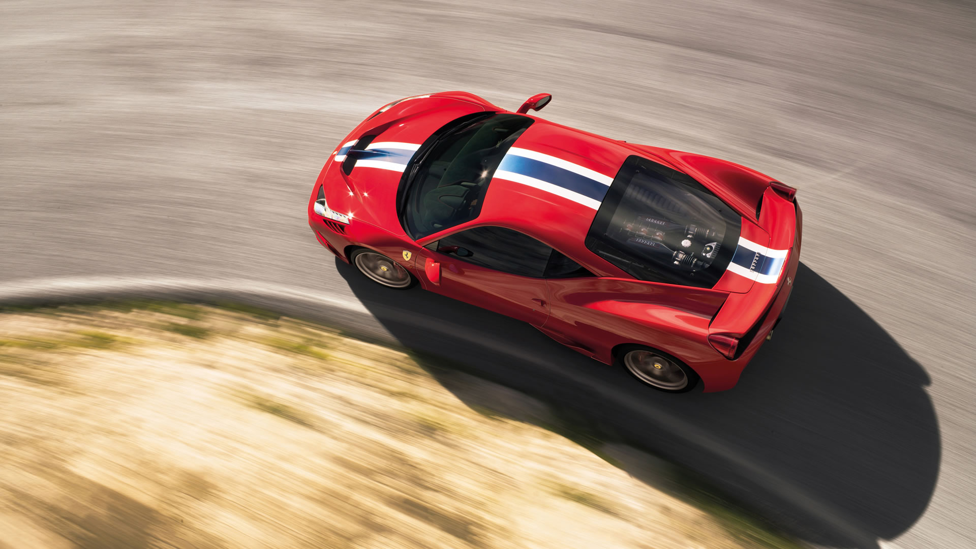 2014 Ferrari 458 Speciale Wallpaper 1920 X 1080 Rosso Corsa Color Elevated View Rssportscars Com