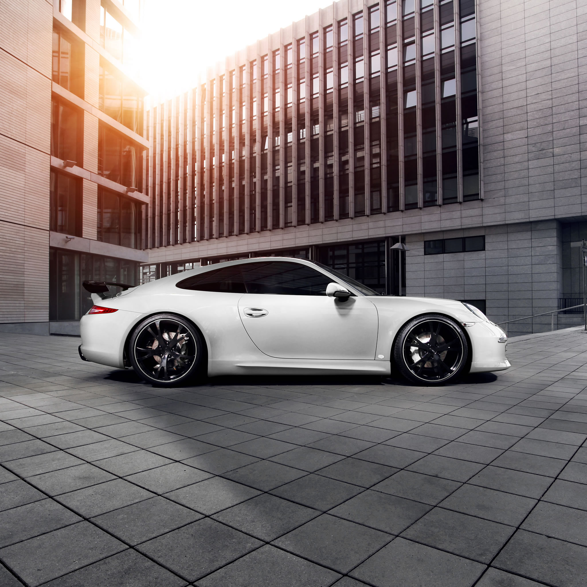 White 2014 Tesla Model S Wallpaper 03: 2014 Porsche 911 Carrera 4S Coupe By TechArt Wallpaper