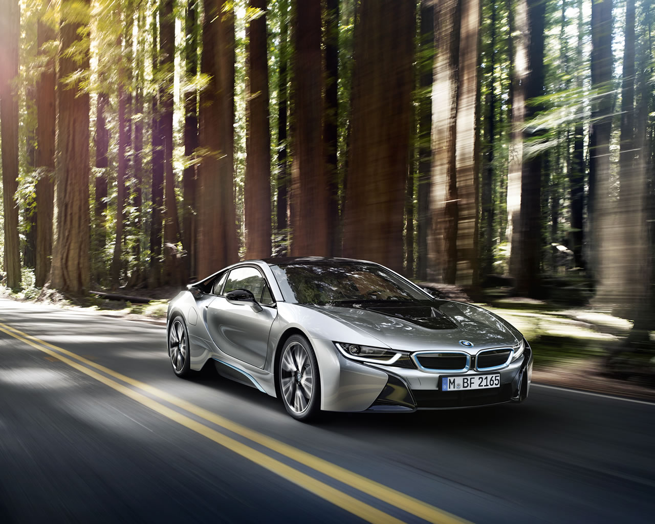 2015 Bmw I8 Wallpaper 1280 X 1024 Woods Driving Countryside