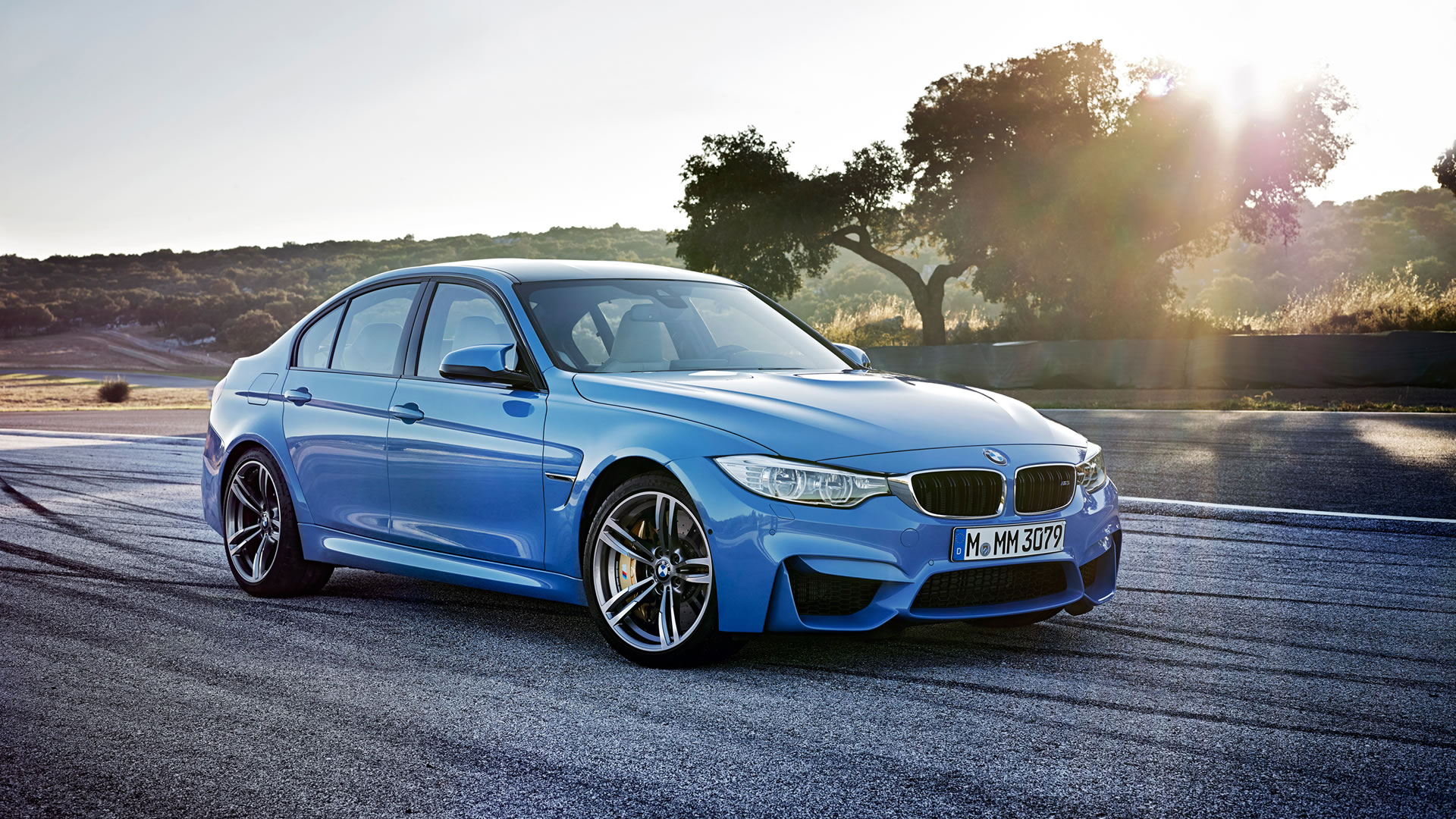 2015 BMW M3 Sedan Wallpaper - 1920 x 1080, Yas Marina Blue ...