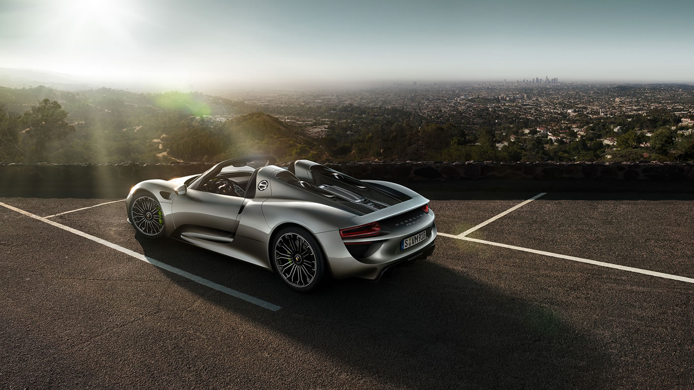 2015 porsche 918 spyder wallpaper 1366 x 768 rear 3 4. Black Bedroom Furniture Sets. Home Design Ideas