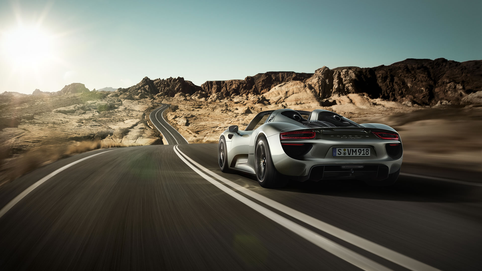 2015 porsche 918 spyder wallpaper 1920 x 1080 rear angle. Black Bedroom Furniture Sets. Home Design Ideas