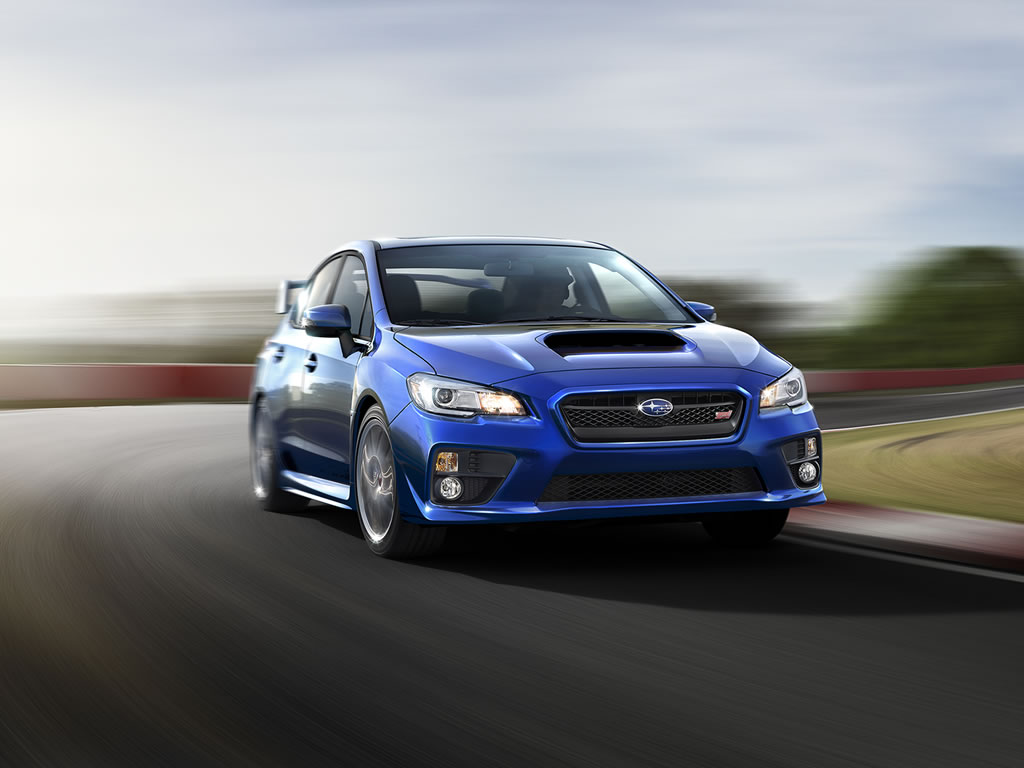 2015 Subaru Wrx Sti Wallpaper 1024 X 768 Wr Blue Color Front
