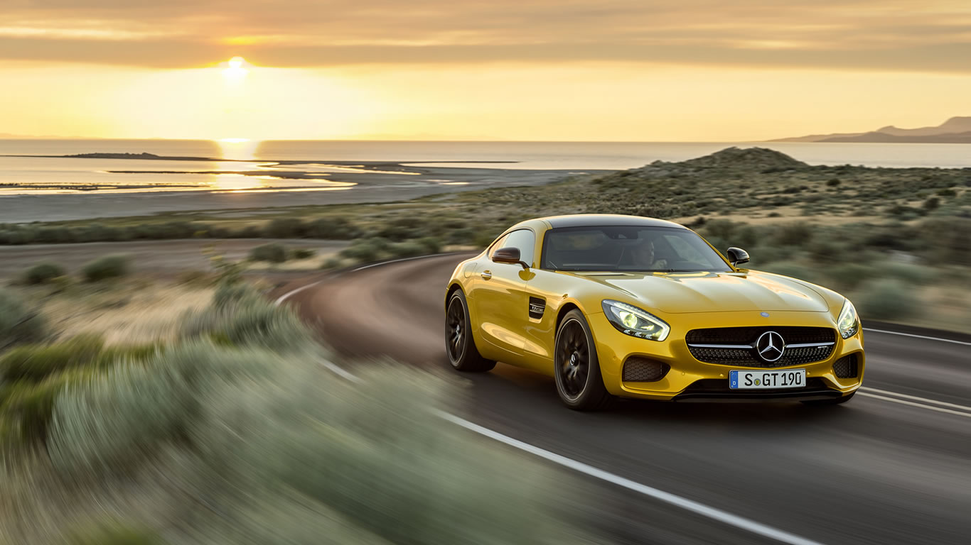 2016 Mercedes-Benz AMG GT S Wallpaper - 1366 x 768, yellow ...